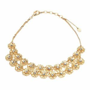 Amrita Singh 18K Gold Plated Floral Necklace